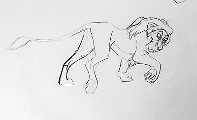 The Lion King - Scar Production Animation Cell Drawing Walt Disney 1994 2*