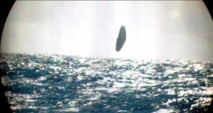 Sichtung des UFOs durch die USS Trepang SSN 674 im März 1971. Es scheint, das Objekt hat sich dabei um mehrere Achsen gedreht.