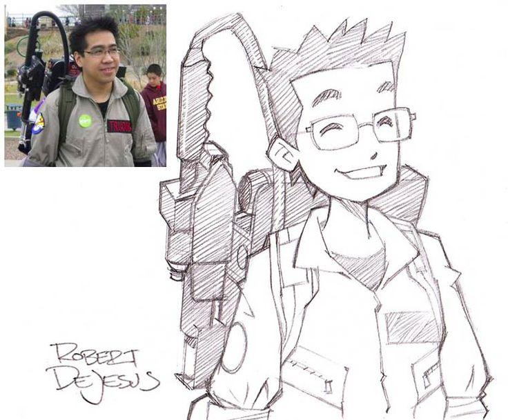 L'illustrateur américain Robert DeJesus, aka Banzchan, s'amuse à dessiner le portrait des gens version manga ! Il réalise des illustrations vraiment migno