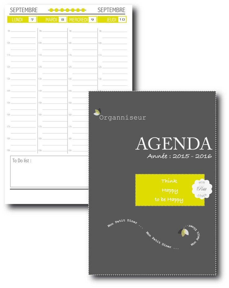 Organiseur  Agenda2015-2016  Agenda  Free printable  Planner printable Organiseur