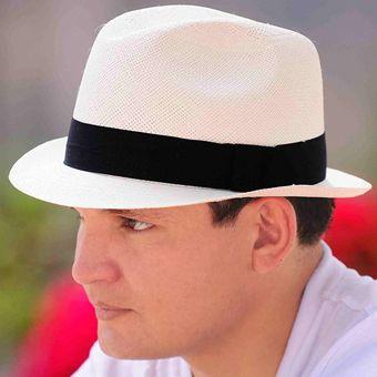 Panama Cuenca Hat - White Borsalino (Havana) for Men (Grade 3-4)