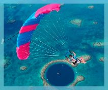 The Blue Hole in Belize - Skydive + Dive. $15,000.