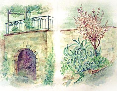 """Check out new work on my @Behance portfolio: """"tossa de mar"""" http://be.net/gallery/33308129/tossa-de-mar"""