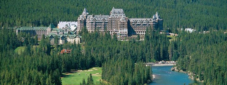 The Fairmont Banff Springs resort, modeled after a Scottish Baronial Castle