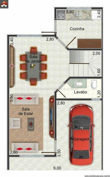 Casa de 1 andar com 3 quartos