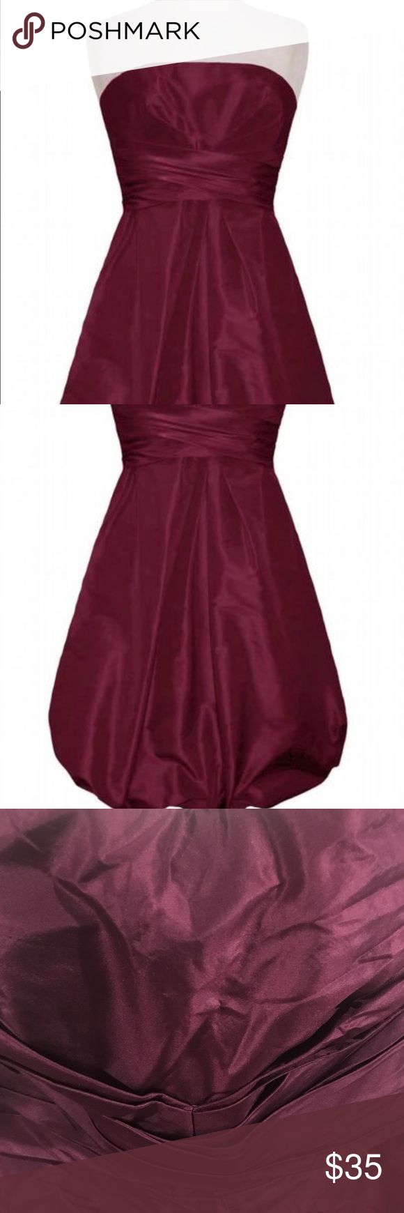 Donna Ricco New York strapless plum colored dress. Donna Ricco New York strapless plum colored dress.  Bubble dress. Very flattering!  The dress is more purple then the picture shows.  It's a Plum color. Donna Ricco Dresses Strapless