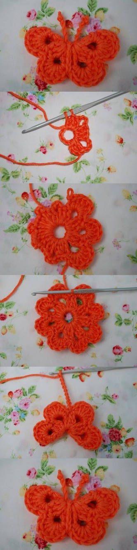 DIY Crochet Butterfly DIY Projects