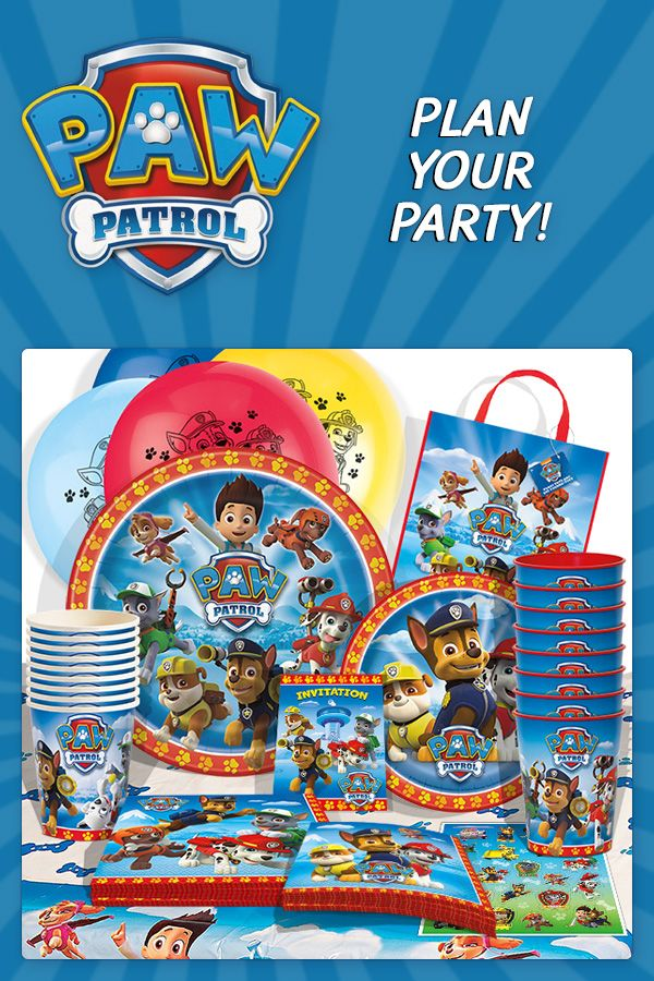 Paw Patrol party supplies are available now to help you plan your party. Tableware, decorations, favors, and additional party accessories are available for your Paw Patrol birthday. Visit us today: http://www.discountpartysupplies.com/boy-party-supplies/paw-patrol-party-supplies?utm_source=Pinterest&utm_medium=social&utm_content=PinterestImageBoard&utm_campaign=PawPatrolPromotedPin