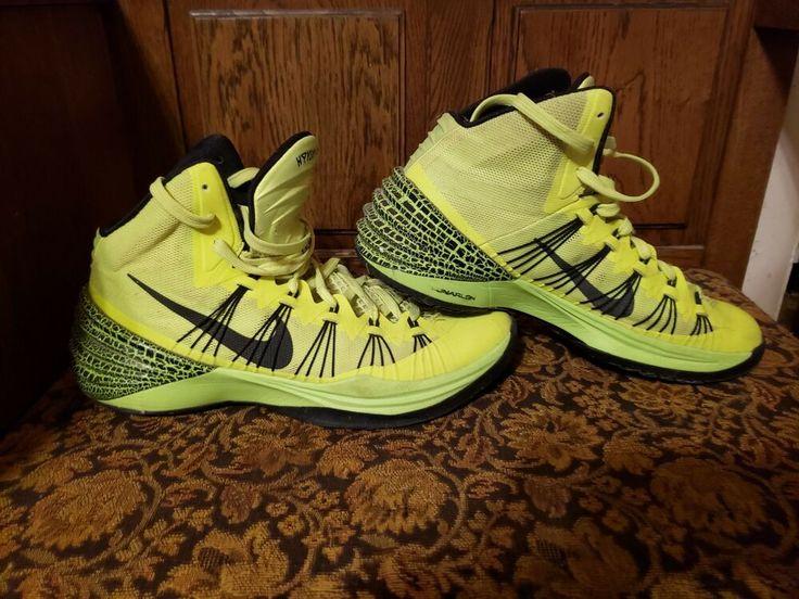 Used Yellow Nike Hyperdunk Lunarlon Mens US 8.5 fashion