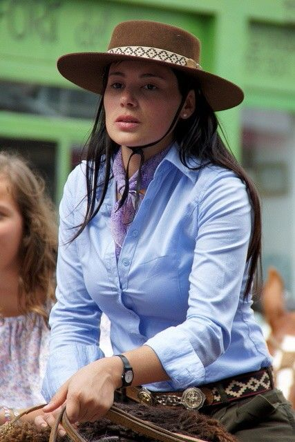 Argentinian woman with gaucho'style tradition
