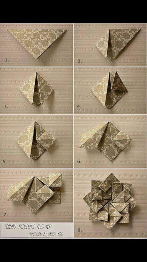 Origami Tutorial (voor op een kaart)