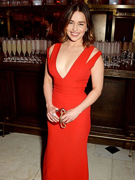 Star Tracks: Tuesday, February 16, 2016 | LADY IN RED | Also there: Emilia Clarke, who stuns in a Valentine-ready red frock at the bash.