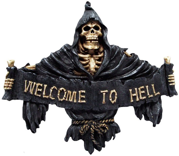 Figura Welcome to Hell #calavera #reaper #rock #metal #gotico #decoracion #decor #skull #gothic #halloween #xtremonline