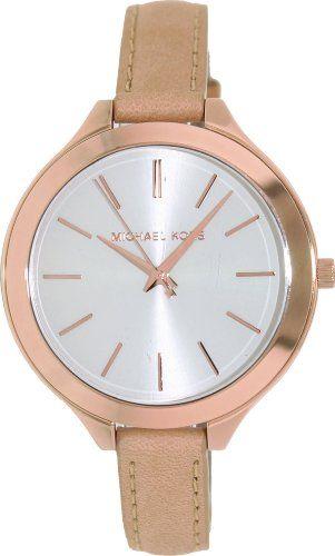 Michael Kors Runway Slim Rose Vachetta Women's Watch - MK2284