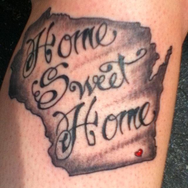 Wisconsin tattoo by Fife