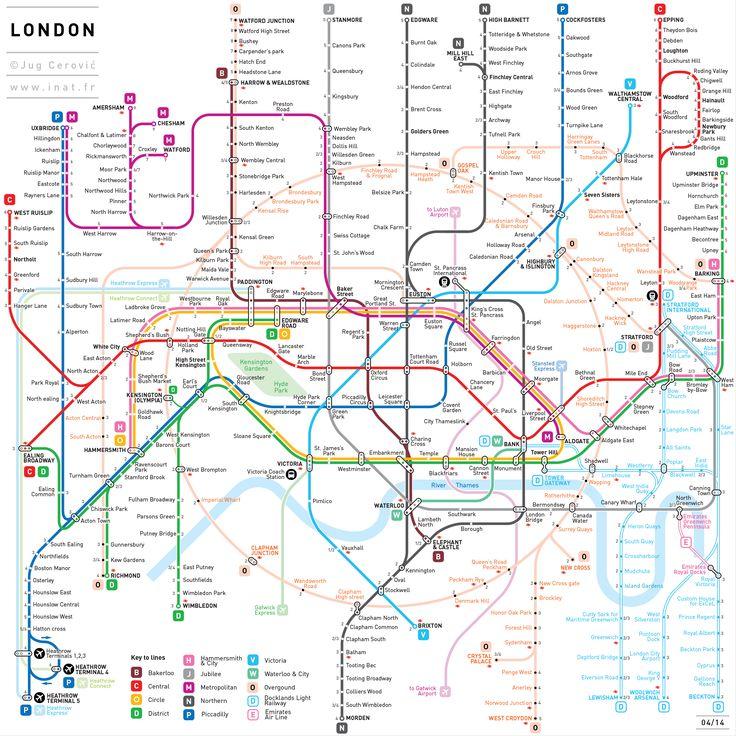 Les plans de métro simplifiés de Jug Cerovic PARIS MADRID BARCELONA BERLIN MOCKBA LONDON TOKYO NEW YORK BEIJING MEXICO