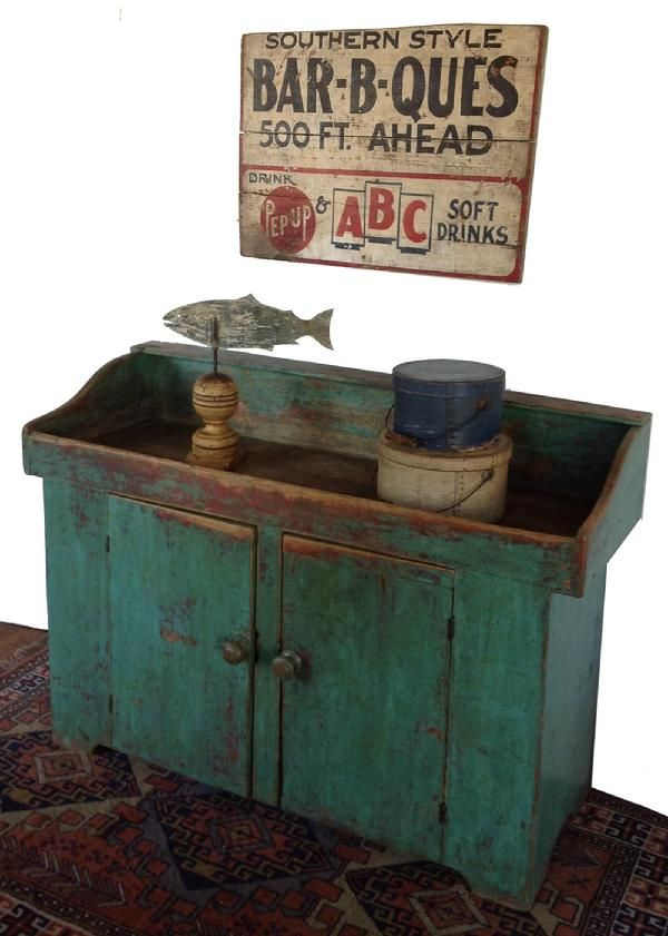 .love the color and wear on the dry sink