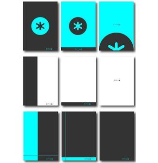 #diseño de imagotipo y tapas para una nueva familia de libretas y cuadernos.
