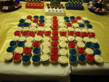 Great British Flag display of cupcakes