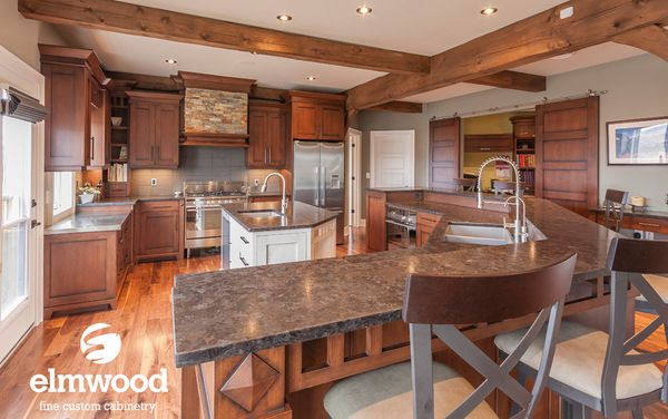 What A Great Way To Define The Space Add A Breakfast Bar