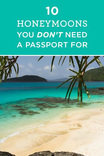 Who says you need to leave the US for your honeymoon? Check out these amazing destinations - no passport needed!