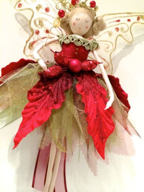 Christmas Tree Top Fairy by FabulousFairyFactory on Etsy