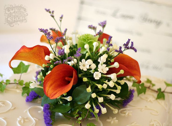 Wedding Cake Topper by Cosmic Flowers