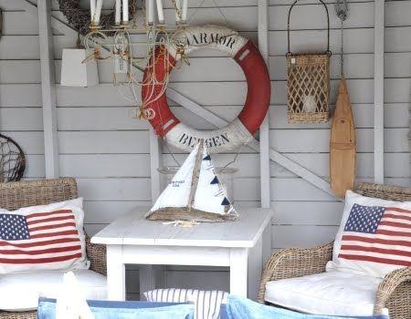 #Nautical Flag Decor for Memorial Day on the #Coast via Completely Coastal