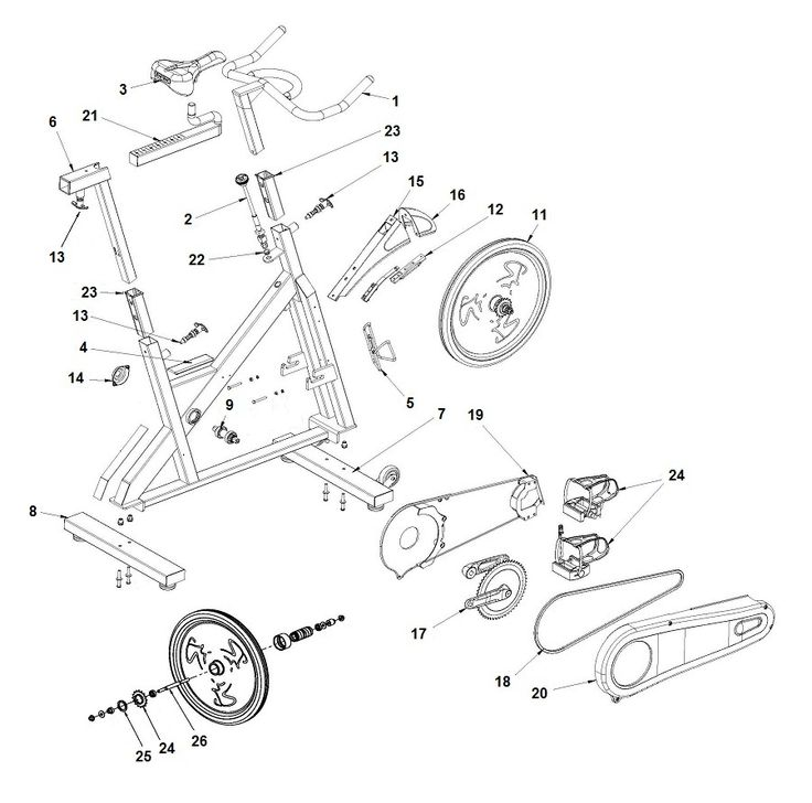 Bicycle Repair Parts : Best images about exercise bike parts on pinterest