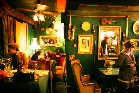 cafe d'mongos - used to be a speakeasy in the 1930s. live music, southern comfort food - this place is great fun everytime i come.