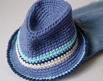 Sombrero fedora crochet- patrón gratis