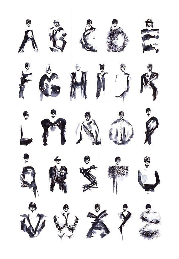 Artist Reinterprets Designer Clothes Into Stylish Fashion Typography - DesignTAXI.com