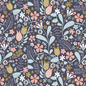Hawthorne Threads - Blackbird - Backyard Blooms in Ink