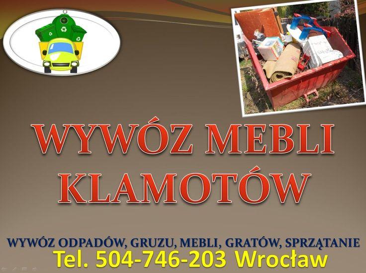 Opróżnianie mieszkań we Wrocławiu, tel 504 746 203, likwidacja mieszkania, domów, lokali Oferujemy usługi opróżnienia mieszkania ze zbędnych rzeczy.  Usługi wywóz mebli  z mieszkań we  Wrocławiu. http://wywozmebliwroclaw.pl/
