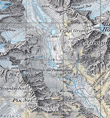 Swiss map / carte Suisse zoom montagne