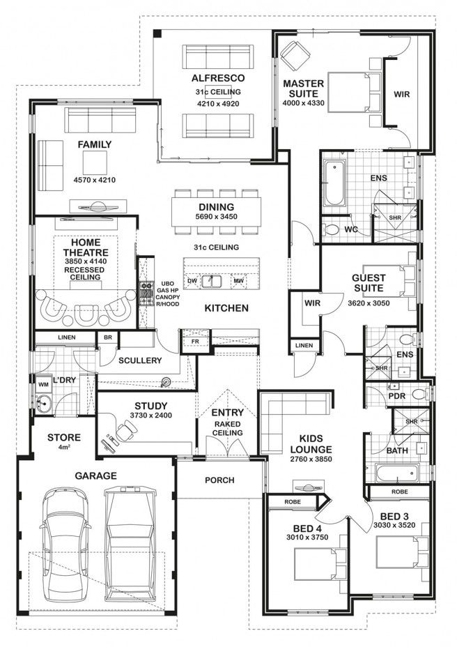 Floorplan.  Swap the location of the laundry room to where the guest room, then make a new path and transition space from the garage and we have a plan.