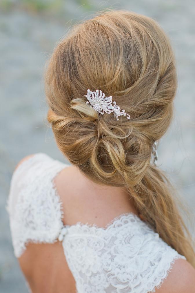 Gorgeous wedding hair! So perfect!