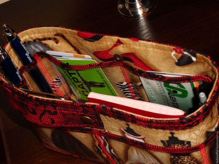 """Купить Органайзер для сумки с прозрачными карманами. """"Манекены"""" - Органайзер для сумки, органайзер, тинтамар, маленькая сумочка"""