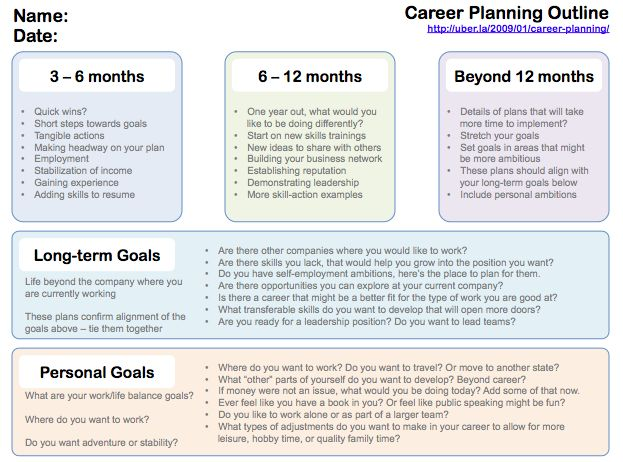 Sample Career Plan  BesikEightyCo