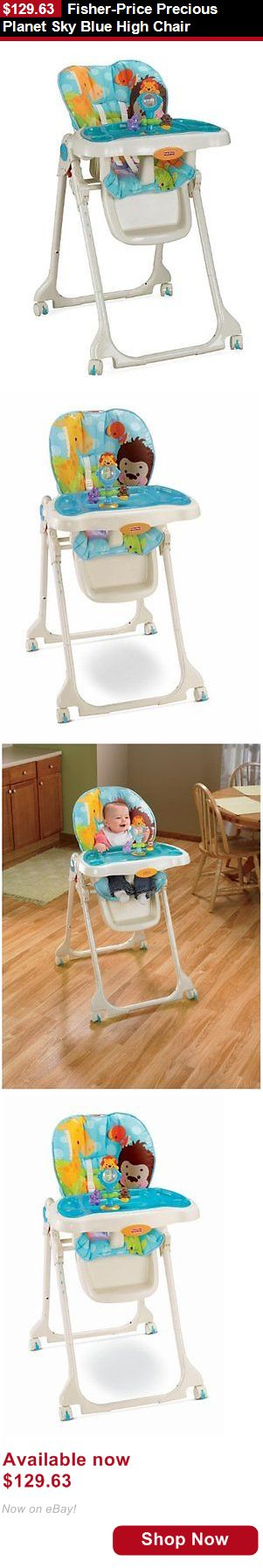 Baby high chairs fisher price precious planet sky blue high chair buy