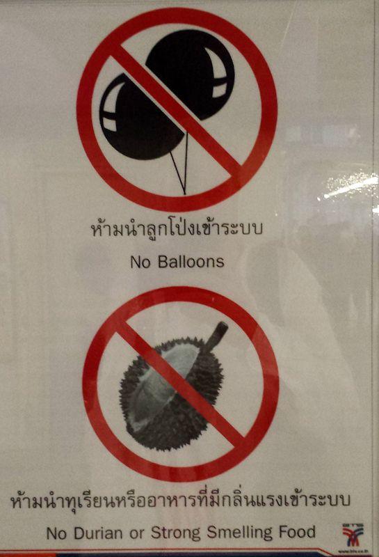 Grown-up Travel Guide Daily Photo: Sign at BTS station, Bangkok, Thailand