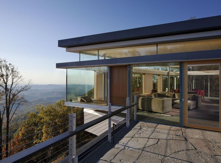 Elegant The Blue Ridge House By Gluck+ Is A Fantastic Long Contemporary Structure  That Boasts An Amazing View. The One Element That Will Instantly Catch Your  Eye