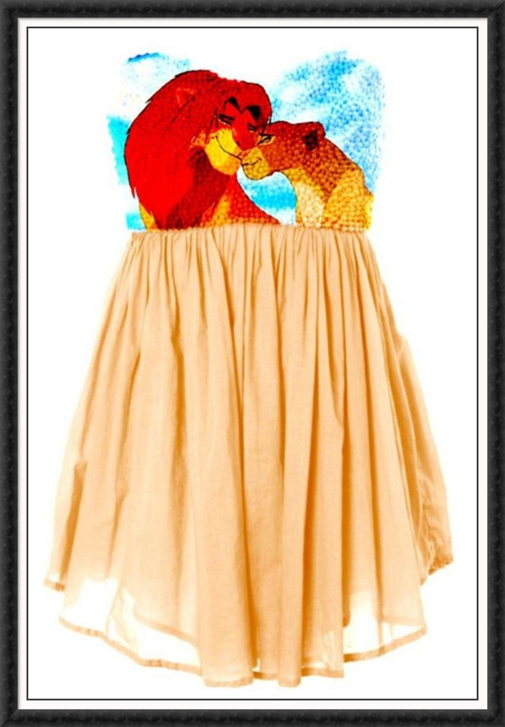 Lion King dress. Oh man how I wish I could something like this off