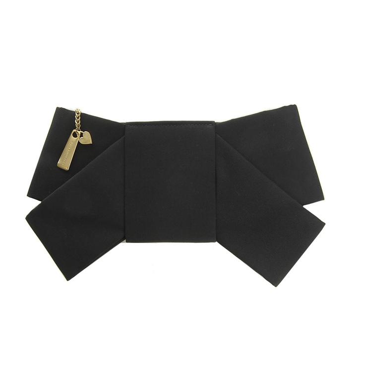 carteira laço preta