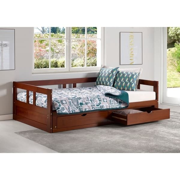 The Melody Day Bed W Storage Maximizes The Area In A Small Room It Is A Classic Twin With Under Bed Stora Daybed With Storage Daybed With Trundle Bed Storage