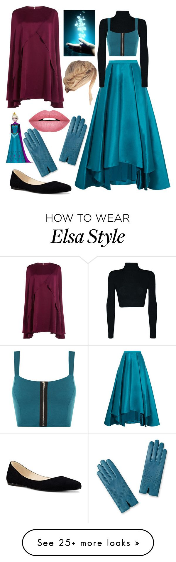 """Elsa"" by nanixmc on Polyvore featuring Badgley Mischka, WearAll, Nine West, Forever 21, Sonia Rykiel and Disney"