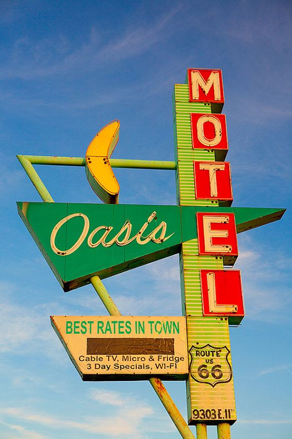 The newest addition to the Etsy shop, this sign stands on Route 66 in Tulsa, Oklahoma. Prints on sale through Cyber Monday!