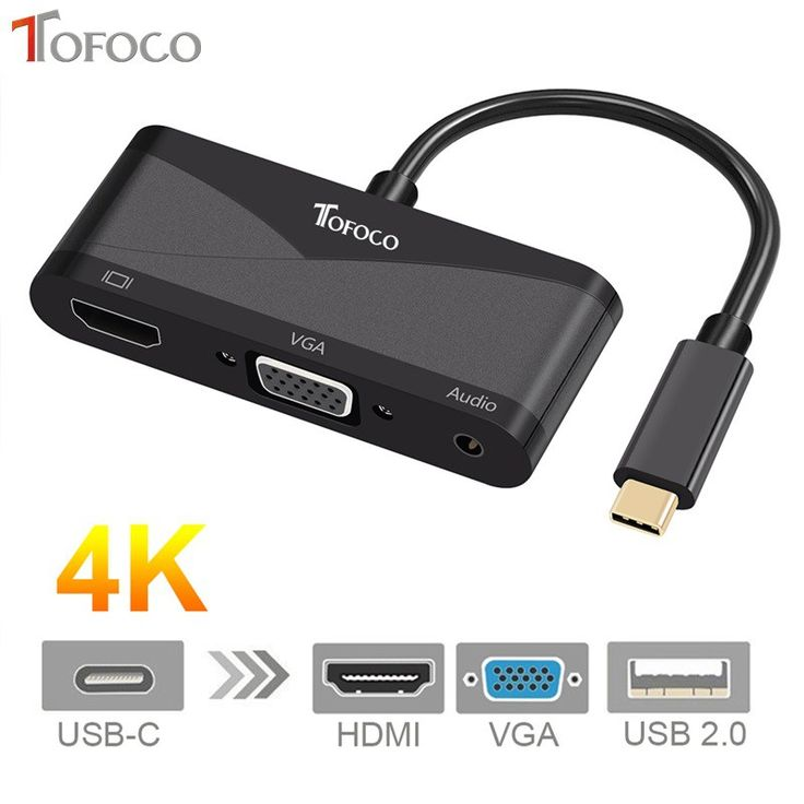 Best price US $15.40  TOFOCO USB C Type C to HDMI VGA 3.5mm Audio Adapter 3 in 1 USB 3.1 USB-C Converter Cable for Laptop Macbook Google   Provide product: Xiaomi