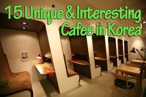 Sure lattes and cappuccinos are nice. But Korea's added some extra fun to cafes with some really unique themes. Find out where you can pet dogs and cats, see Charlie Brown, play Jenga, go camping and even get your bike fixed!