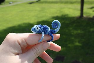 Leo the Tiny Chameleon pattern by Wee Creatures Lydia Freeman
